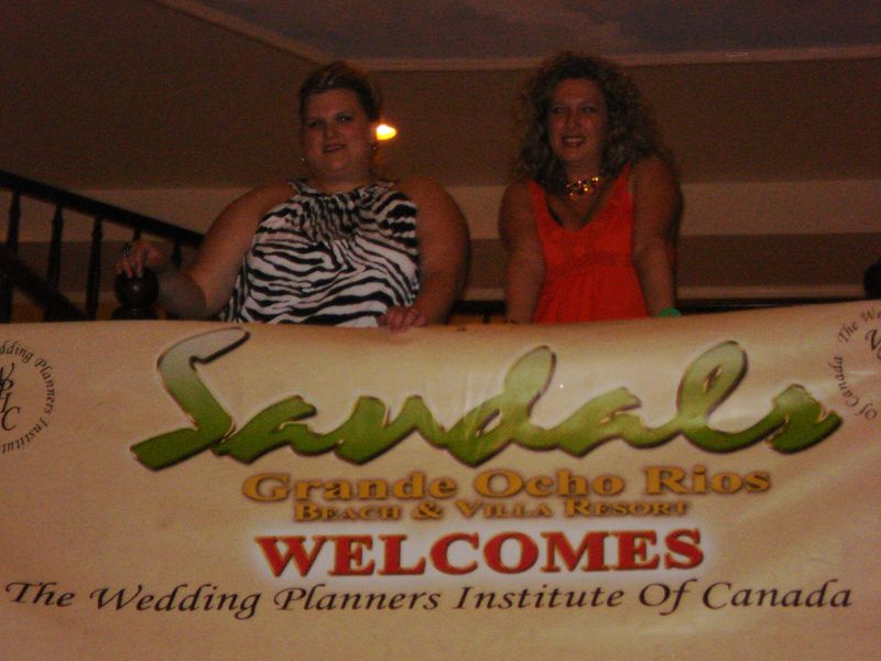 Danielle and Tracey WPIC at Sandals