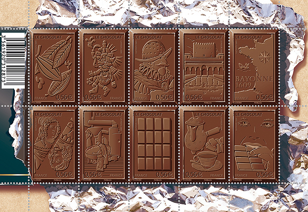 Chocolate stamps from France