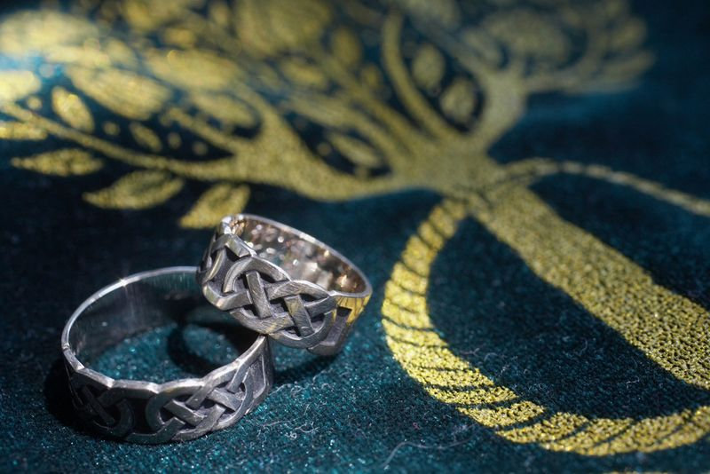 The Celtic Knot is another popular choice for Wedding Rings