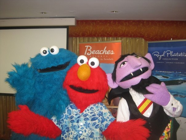 Sesame Street characters at wpic conference