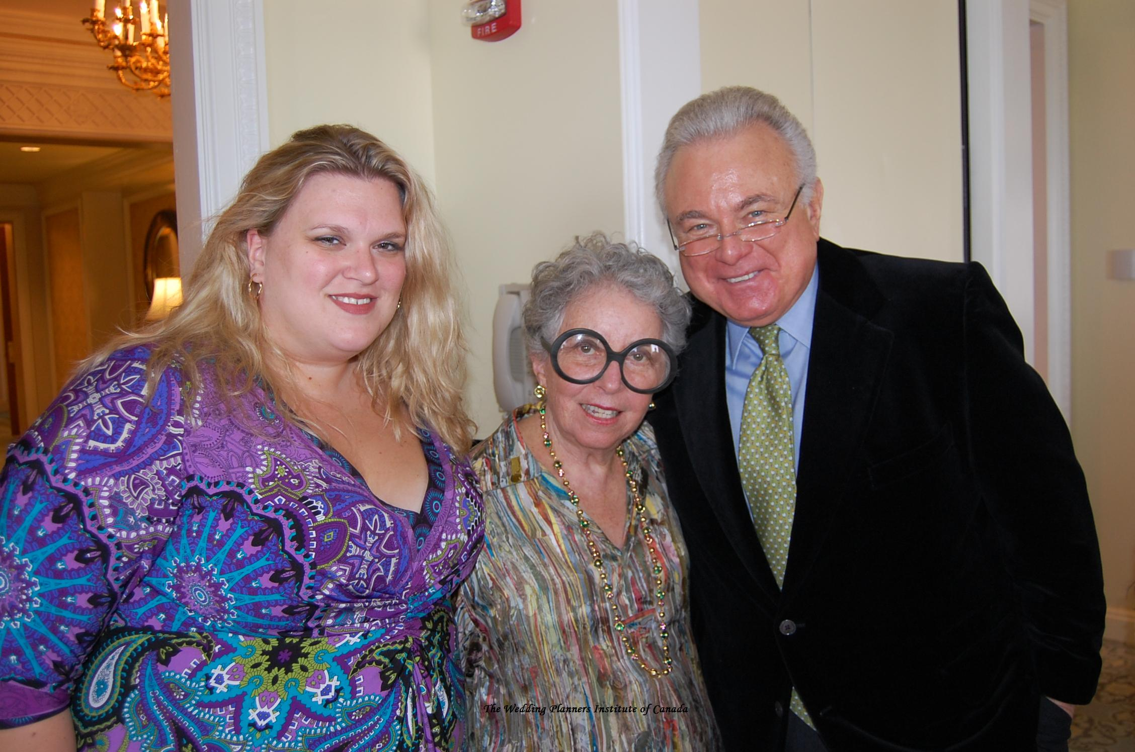 Danielle Andrews Sunkel with Sylvia Weinstock and Ronnie Rothstein