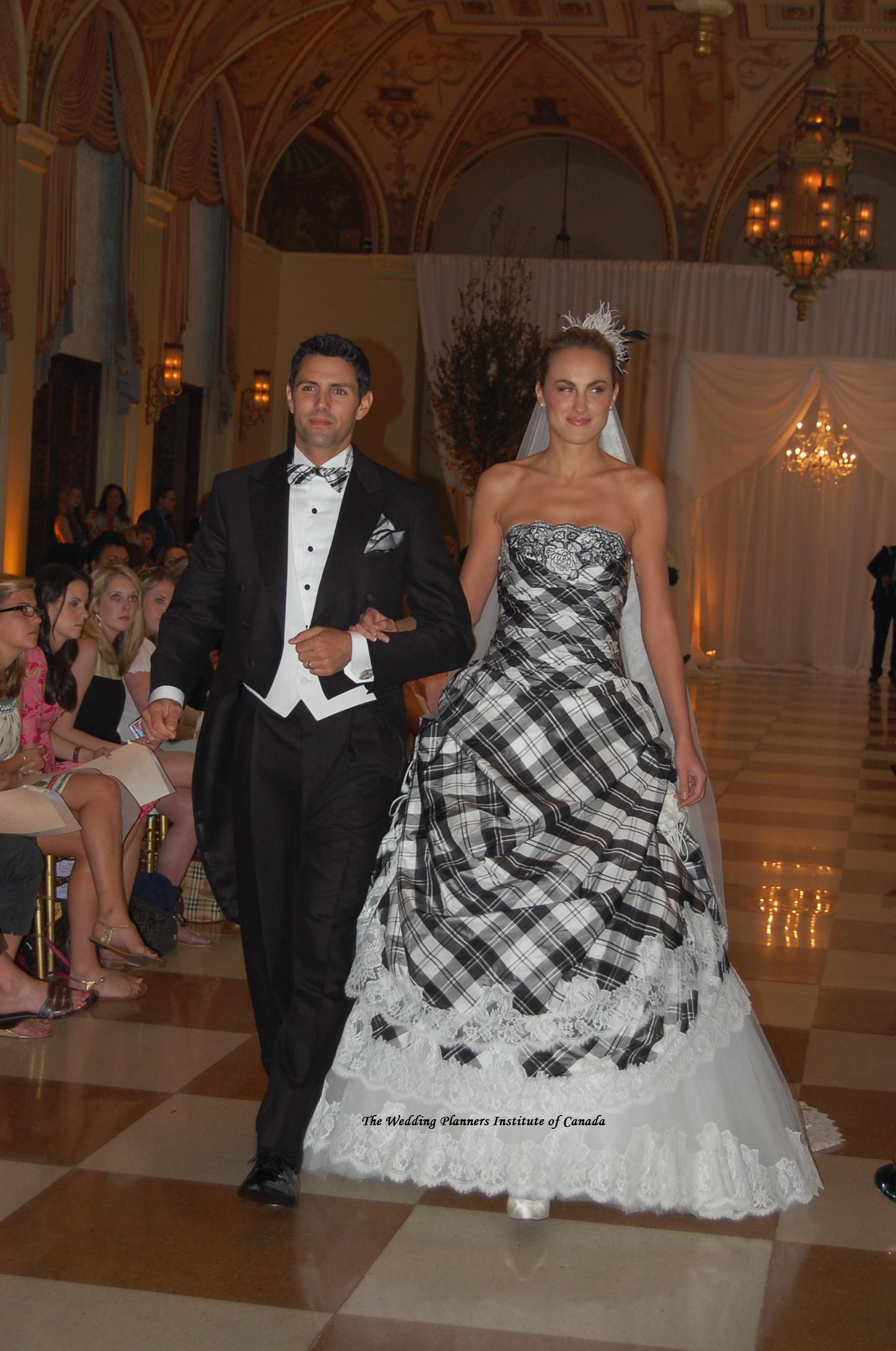 Plaid Wedding Dress