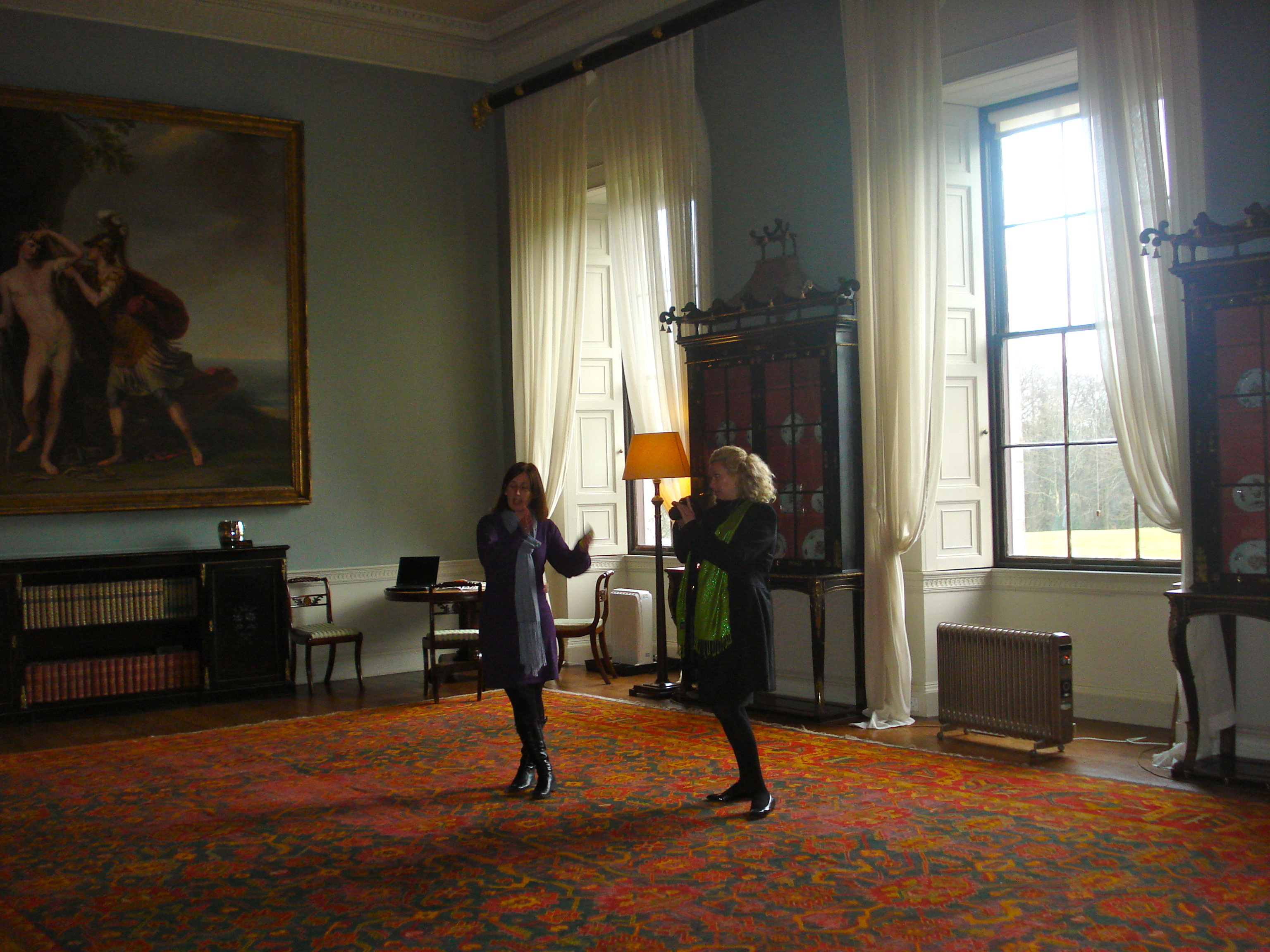 Kate McAloon and Tracey Manailescu at Castle Coole in Ireland