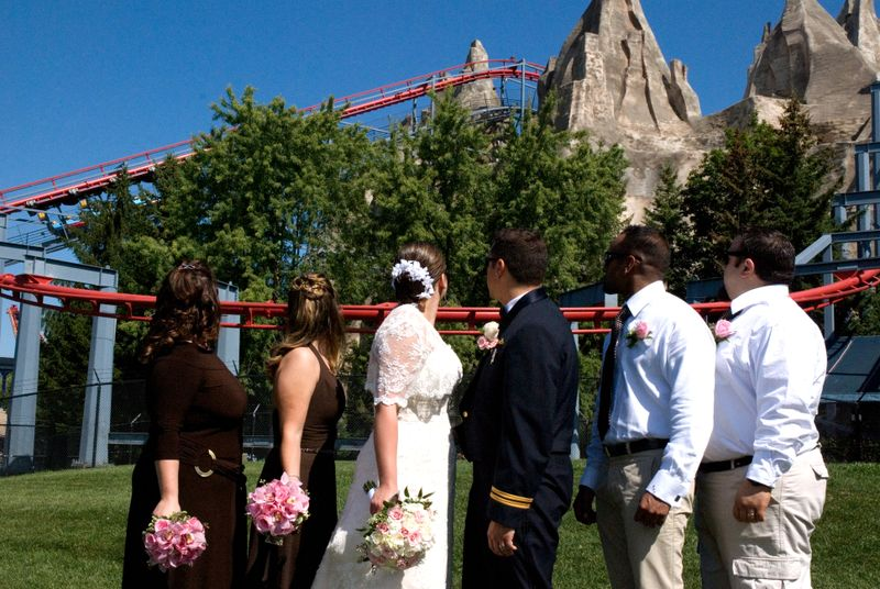Roller coaster Wedding