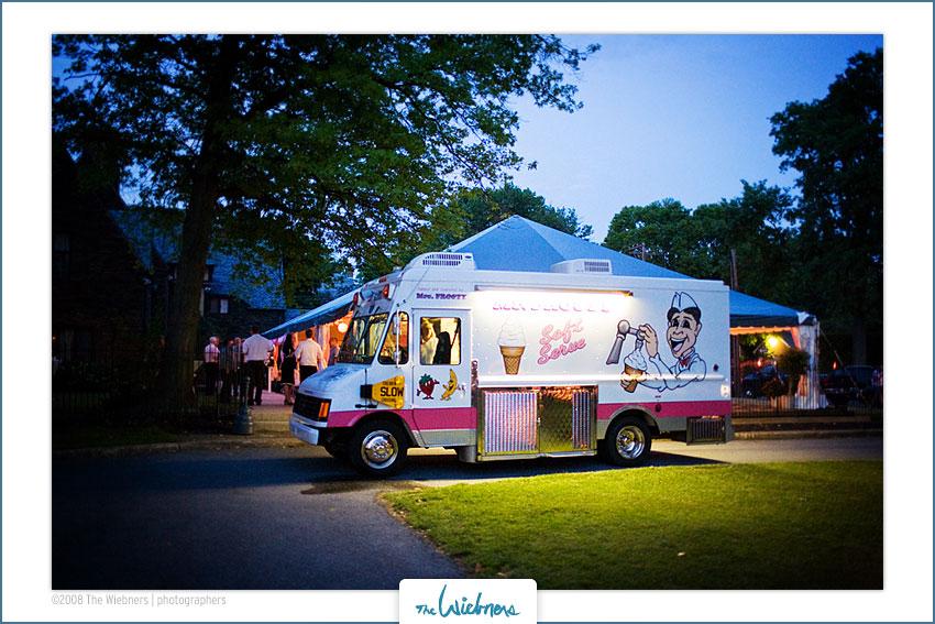 Ice Cream Truck At Wedding