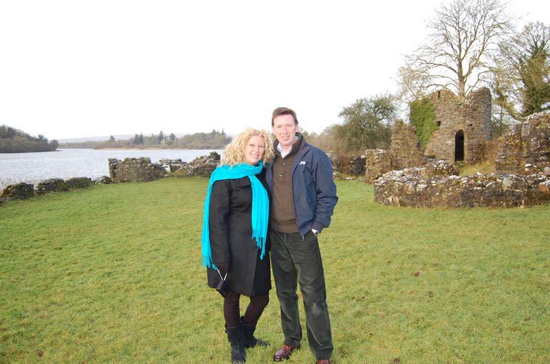 Tracey and noel at crom castle